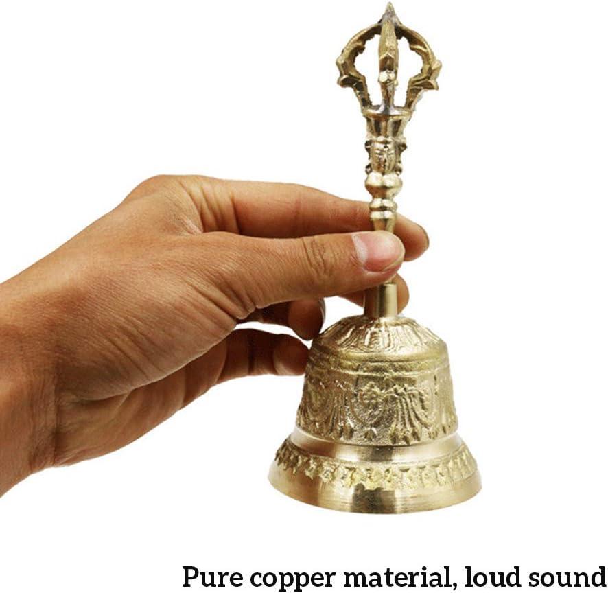 Quality for less Brass Hindu Hand Held Bell Indian Hindu Festivals /& Christmas Musical Jingle Brass Puja Pooja Prayer Ghanti