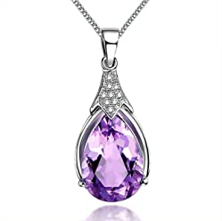 mit einem Schmuckbeutel Schmuck f/ür Damen AIUIN 1 Halskette f/ür Damen Geschenkidee f/ür M/ädchen drehbarer Anh/änger mit Kristall-Diamant
