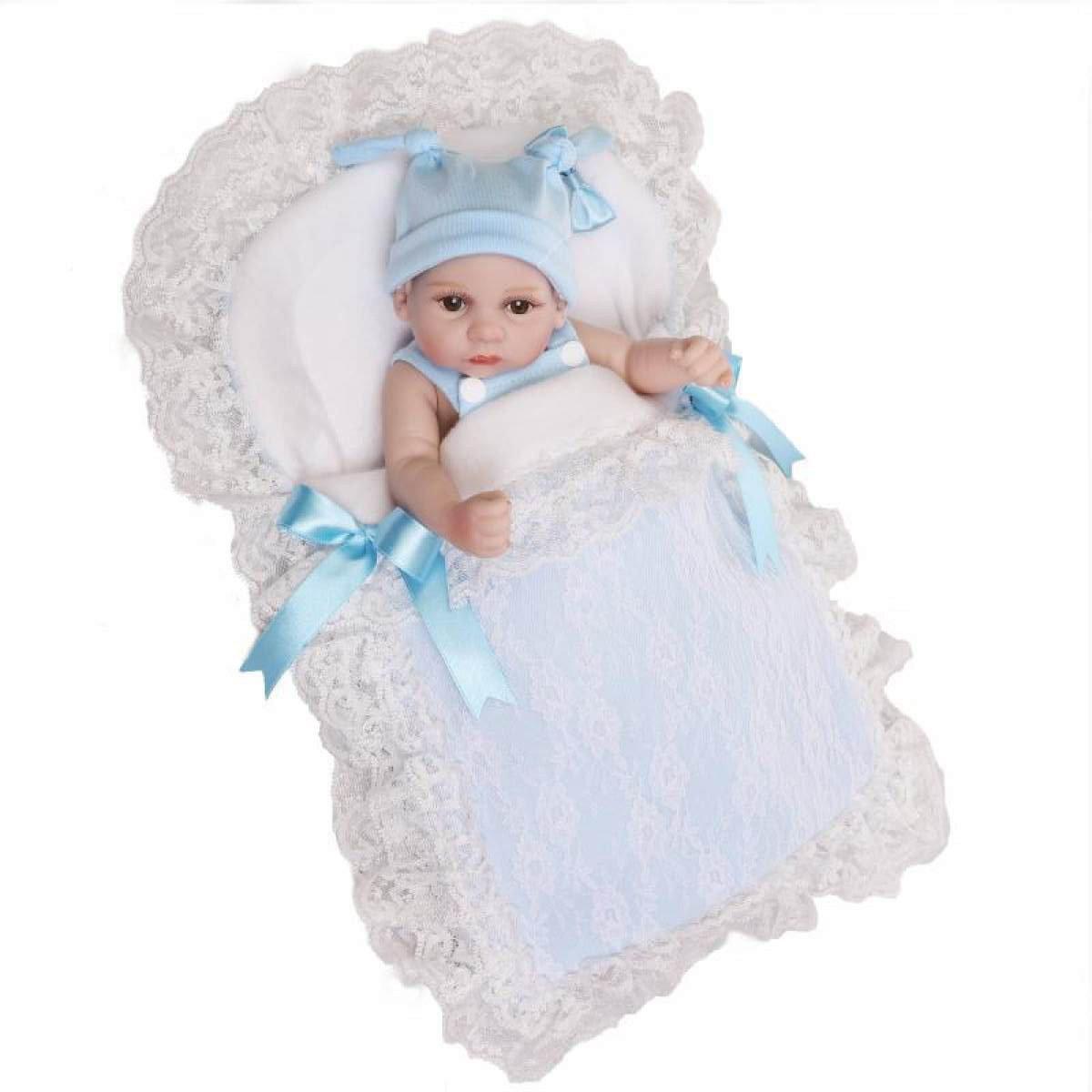 Twins Reborn Baby Dolls Hecho A Mano Realistic Silicone Vinyl Baby Doll Soft Simulation 10 Pulgadas 26 Cm Puede Estar En El Agua,Boy
