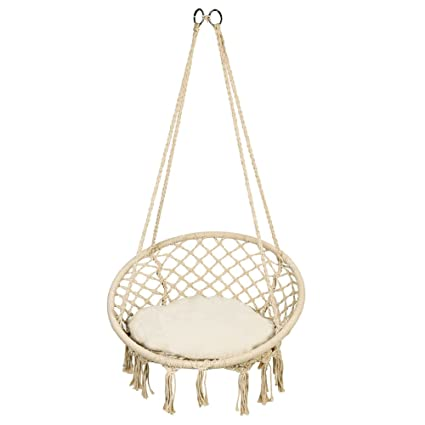 Awesome Amazon Com Estink Net Swing Outdoor Hanging Relax Round Ibusinesslaw Wood Chair Design Ideas Ibusinesslaworg