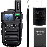 Retevis RB15 - Radio, recargable de 2 vías, pequeño walkie talkie para adultos con alarma de emergencia y vibración…