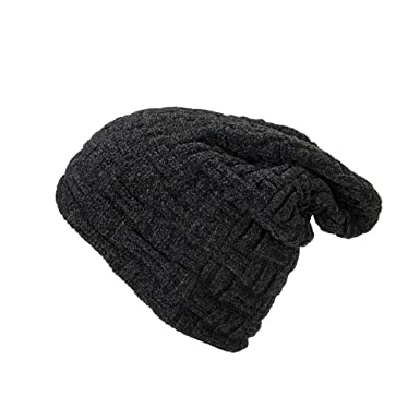 Hevoiok Unisex Winter Warm Beanie Hat Casual Fashion Ladies Pure Color Knit  Velvet Soft Hat Women 50f1fa85c05f