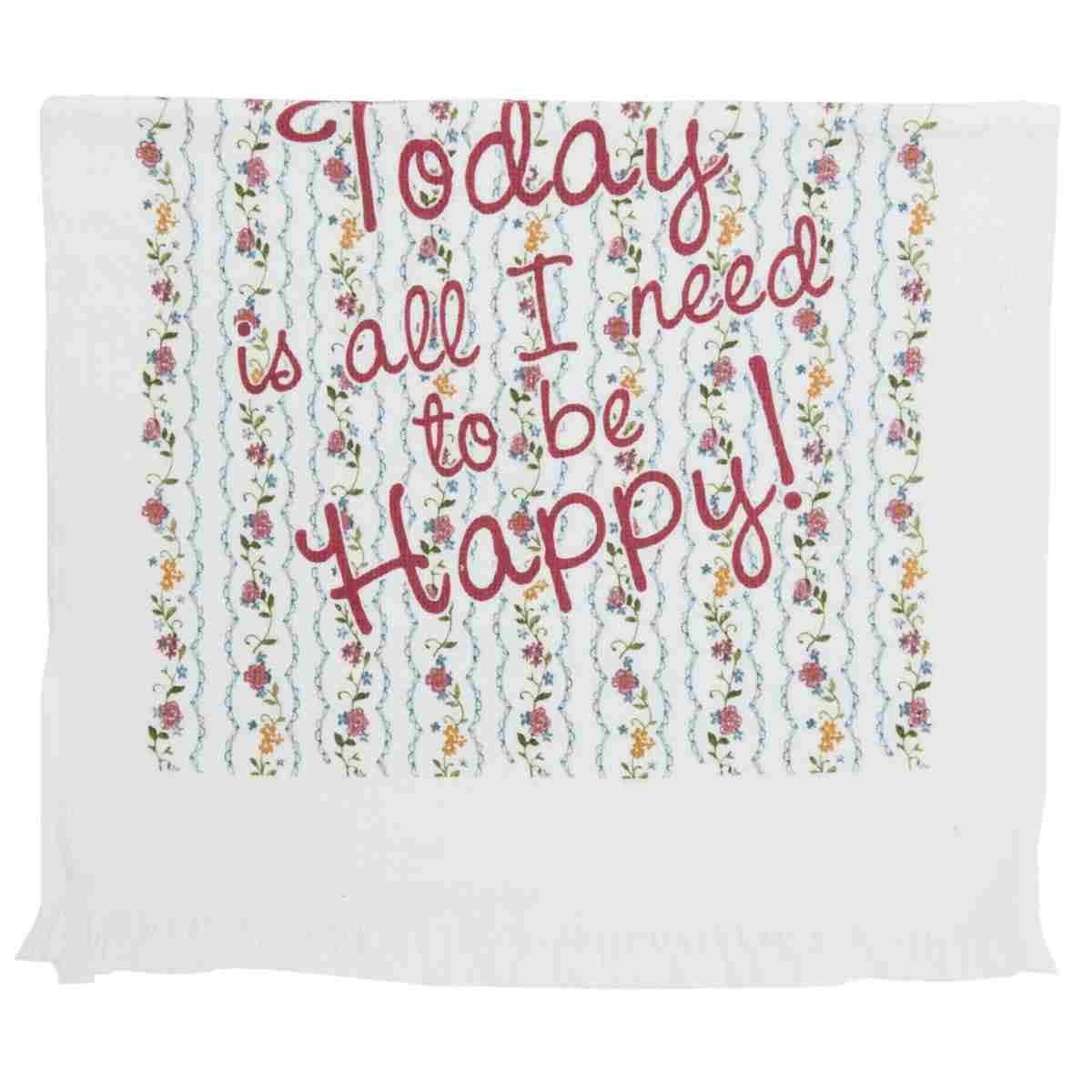 Clayre /& Eef Gästehandtuch aus Baumwolle 40 x 60 cm