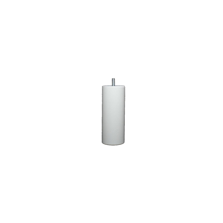 La Fabbrica di Piedi am20170034/Gioco di 4/Piedi di Letto cilindri Legno Laccato Bianco 15/x 7/x 7/cm