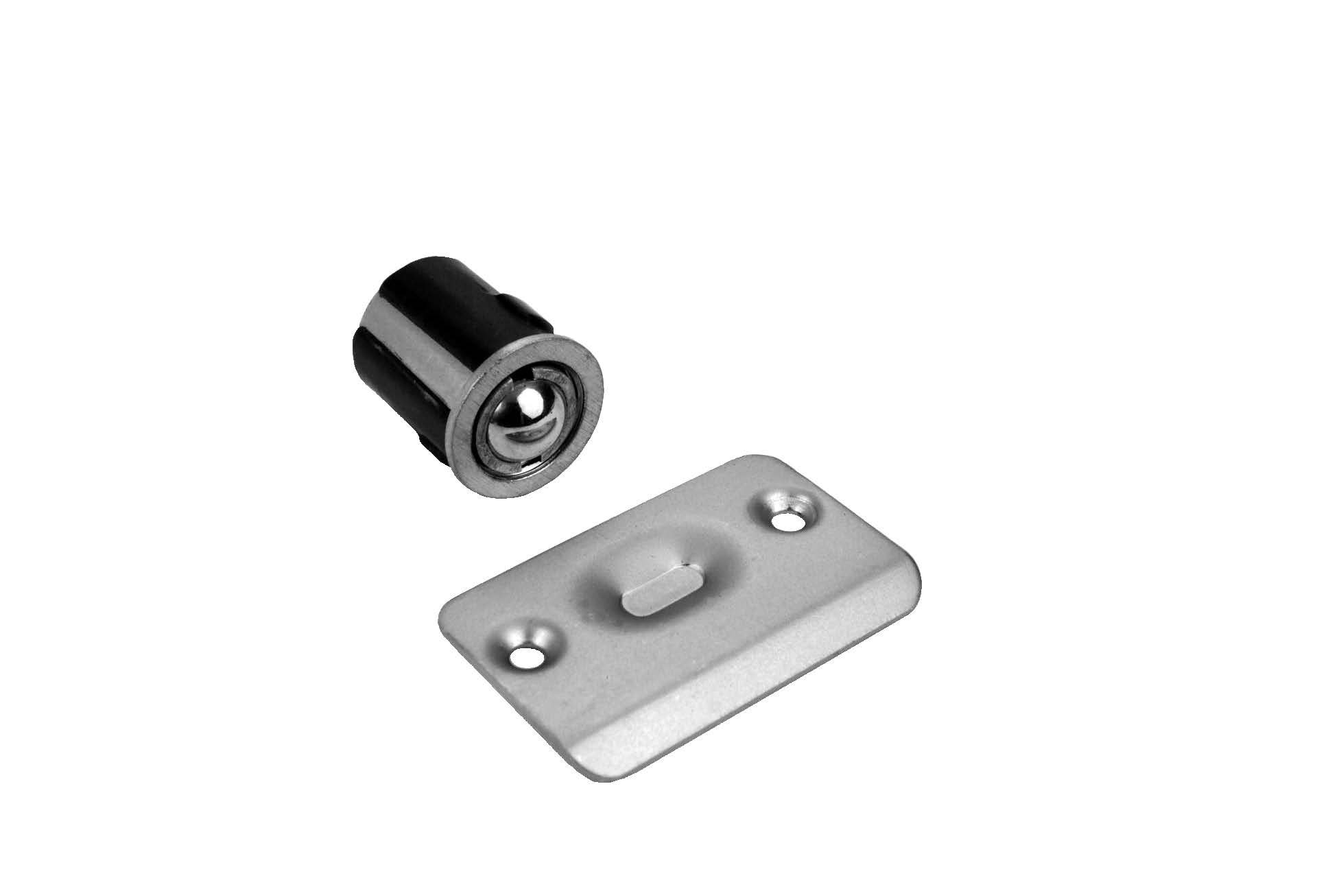 Don-Jo 1716 Cast Brass Drive In Ball Latch, Clear Coated Satin Nickel Plated, 1'' Length x 1'' Width (Pack of 10)