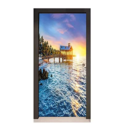 Amazoncom Homesonne United States Door Wallpaper Pier At