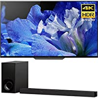 """Sony Bravia XBR55A8F 55"""" OLED 4K HDR10 HLG and Dolby Vision TV 3840x2160 & Sony HTZ9F 3.1Ch 4K HDR Compatible Dolby Atmos Soundbar with Built-in WiFi & Bluetooth"""