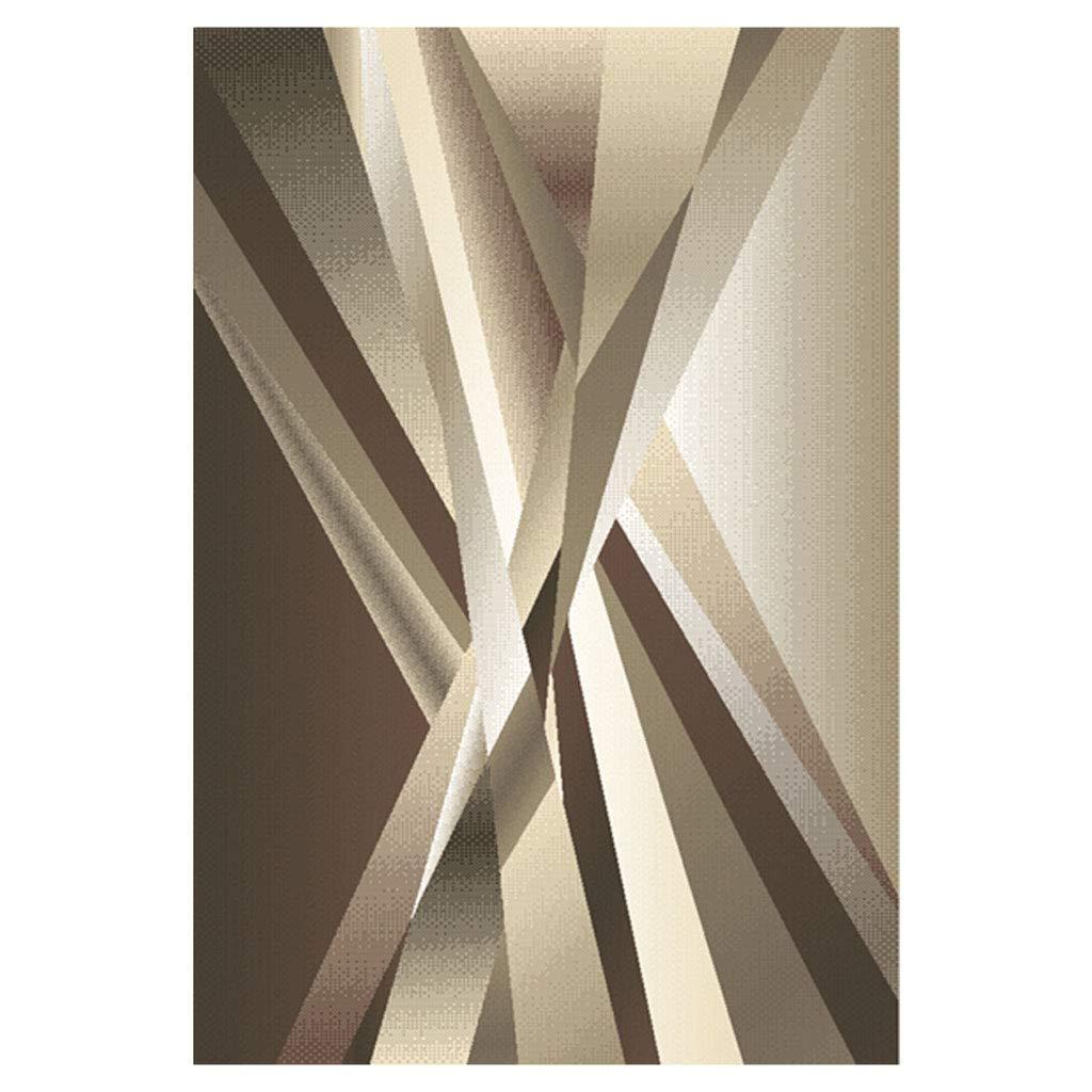 ラグカーペット リビングルーム創造的なカーペット 単純な近代的なカーペット スタイリッシュなベッドルームのベッドサイドの敷物 子供部屋の厚いカーペット ホーム長方形の光の高級カーペット 研究幾何学的なカーペット (Color : Brown, Size : 160*230*1.5cm(63*90*0.6in)) 160*230*1.5cm(63*90*0.6in) Brown B07KXQ6DL8