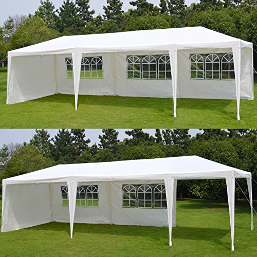 BenefitUSA Wedding Party Tent 10'X30' Camping Outdoor Easy Set Gazebo BBQ Pavilion Canopy (Palm Springs Coating Powder)
