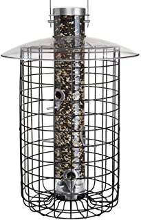 product image for Droll Yankees Domed Cage Sunflower Seed Bird Feeder, 20 Inches, 6 Ports, Black