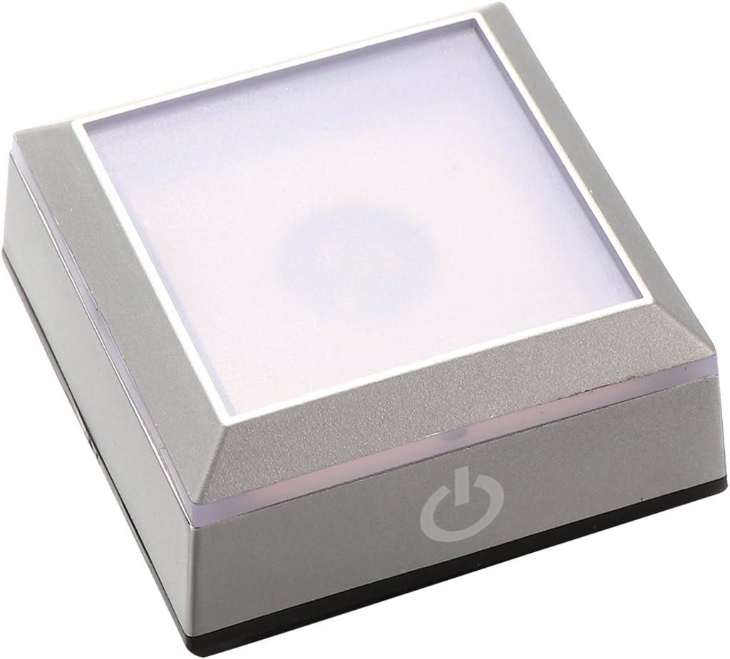 LEDMOMO Base de luz LED, base de luz colorida Base de luz de pantalla con interruptor sensible al tacto Pantalla iluminada