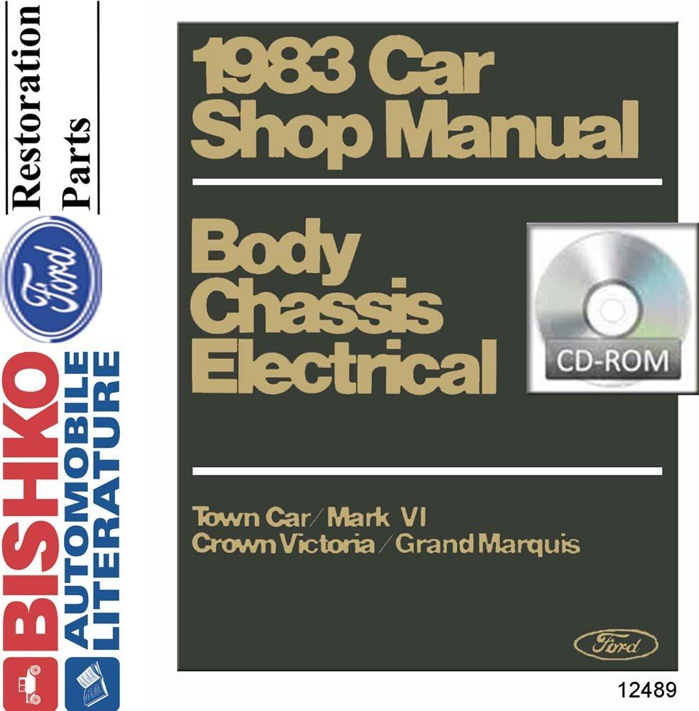 Bishko Automotive Literature 1983 Ford Lincoln Mercury Continental Wiring Diagram Shop Service Repair Manual Cd Engine Electrical Oem