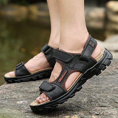 Black Sandalias Hombres De Velcro Para Moda Antideslizantes Verano Playa 88rwSPq