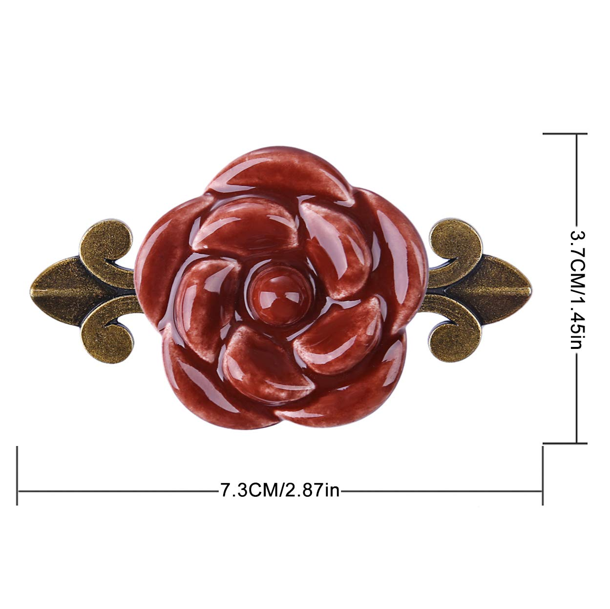 Lot de 10 Boutons de Portes et Tiroir Poignee Porte Vintage en C/éramique Id/éal pour Cabinet Armoire Cuisine Chambre ZUJI Poign/ées de Meuble Marron