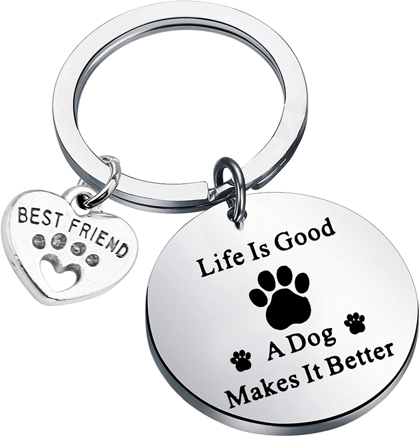 Gift for Pet lover Rescue Custom Pet Portrait Pet Picture Keychain New Dog Owner Dog lover gift Christmas Gift Personalized Present