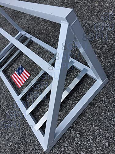 White 8 10 12 GPU Mining Rig Computer Case Stand Frame