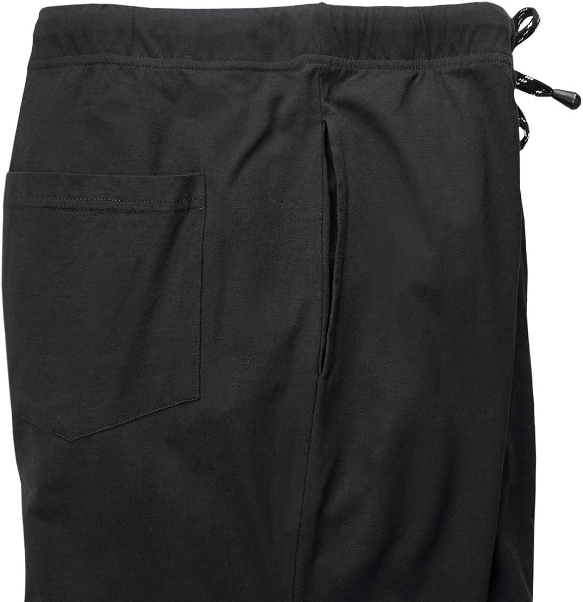 Pantal/ón largo para dormir tallas grandes hasta 10 XL ADAMO color negro