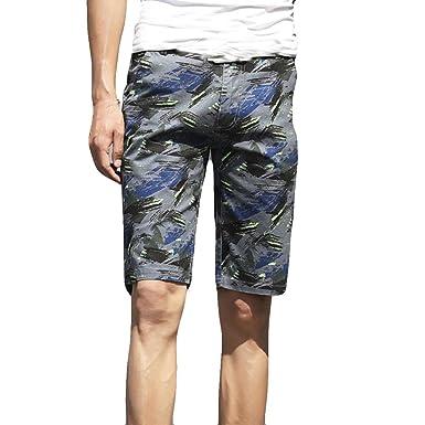 bonne qualité matériau sélectionné sensation de confort Short Slim Imprimé Camouflage,OverDose Été Bermuda Homme Casual Cargo Chino  Habillé Pantalon Skinny Shorts