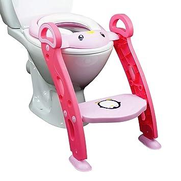 Töpfchentrainer Toilettentrainer Töpfchen Rutschfest mit Treppe Kinder Sitz