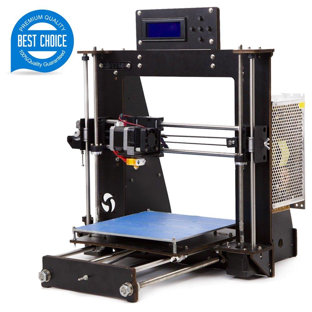 Tigtak 3D Drucker 2018 neueste Version Prusa i3 Kit mit LCD Display Ultrabase Hitze und grö ß ere Druck Grö ß e 200 * 200 * 180mm ABS/PLA 1.75mm (3D Drucker-DIY-I3) LESHP