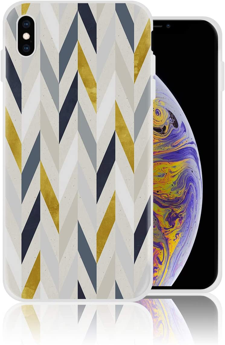 Amazon Com Silicone Case For Iphone Xs Max Multicolor Stripe Art Wallpaper Phone Case Personalized Design Printed Shockproof Full Body Protection Anti Scratch Drop Protection Cover