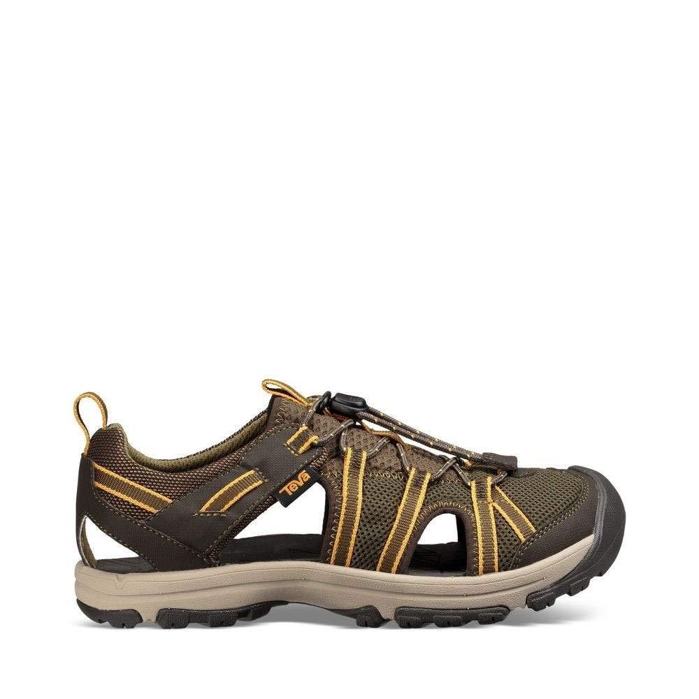 Teva Boys' Y Manatee Sport Sandal, Dark Olive, 4 M US Big Kid