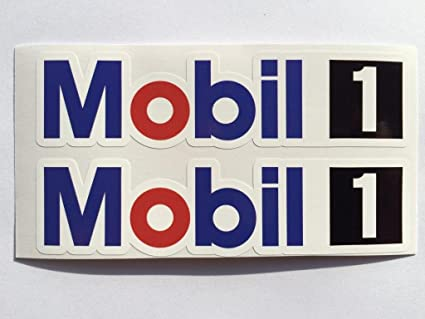2 mobil 1 racing exxon die cut decals by sbd decals