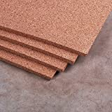 "Manton Cork Sheet, 100% Natural, 4' x 8' x 1/2"" - Thickest available"