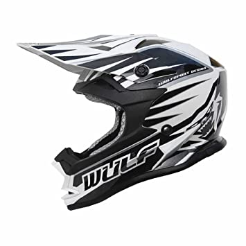Wulf Cub Advance Junior Motocross Helmet S Black/White