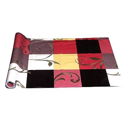 Kuber Industries PVC Kitchen Shelf Mat - Multicolour