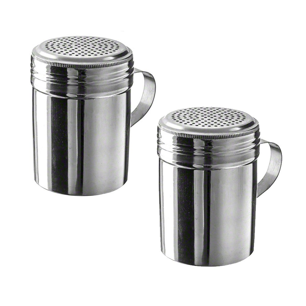 10 oz Stainless Steel Dredge with Handle (Pack of 2) Winco