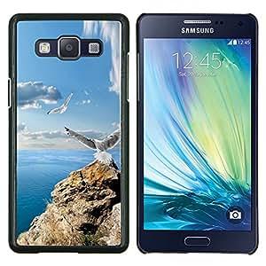 TECHCASE---Cubierta de la caja de protección para la piel dura ** Samsung Galaxy A5 ( A5000 ) 2014 Version ** --ICONO DEL ROCK GAVIOTAS y MAR
