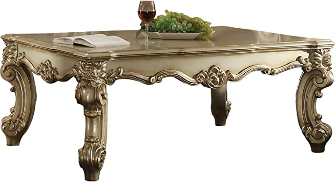 Amazon Com Benjara Gold Patina Benzara Wooden Coffee Table