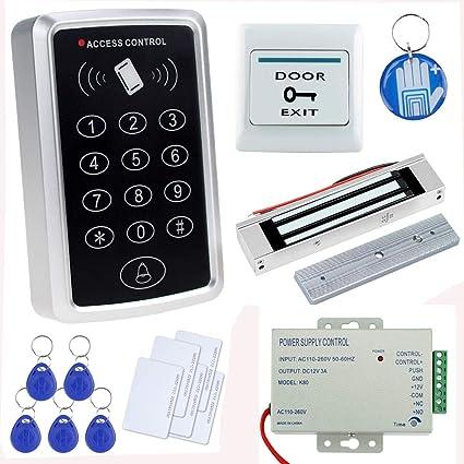 OBO HANDS Kit Completo Completo para Sistema de Control de Acceso a la puerta Lector de