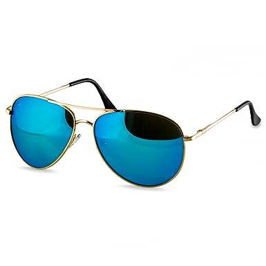 Caspar SG013 Gafas de Sol Unisex de Estilo Police/Piloto - de Espejo o Tintados