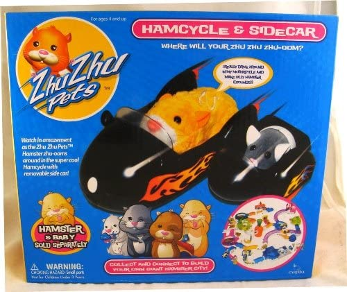 Amazon Com Zhu Zhu Pets Vehicle Playset Hamcycle Sidecar Toys Games