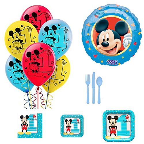 Mickey Mouse 1st Birthday Party Supplies and (1st Bday Party Themes)