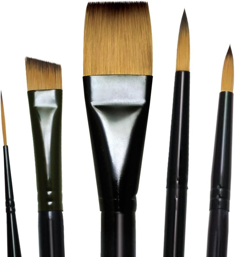 LANGNICKEL ROYAL SOFT GRIP GOLD TAKLON Round Short Liner Script Liner Brush