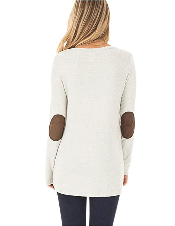 carinacoco Donna Camicia Casuale Camicetta Bottone Maglietta Manica Lunga Eleganti Tunica T-Shirt Loose Fit False Suede Maglia Tops