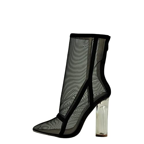 6c35fc3e086 Amazon.com | CAPE ROBBIN Brady 2 Women's Point Toe Mesh Lucite Heel ...
