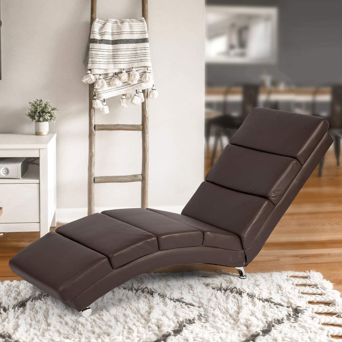 - Amazon.com: YOLENY Synthetic Leather Chaise Lounge With Massage