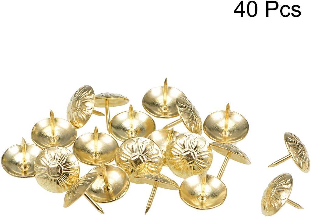 Polster Nagel Zwecke rund Daumen Heftzwecke gold 24mm Kopfdurchmesser sourcing map 25Stk