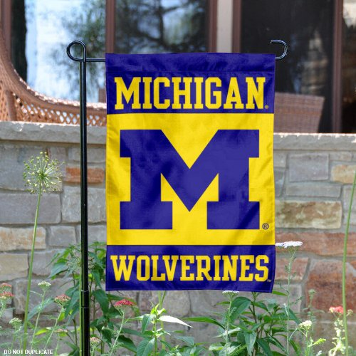 University of Michigan Garden Flag and Yard Banner