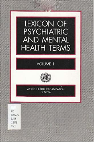 Book Lexicon of Psychiatric and Mental Health Terms: For Use with the