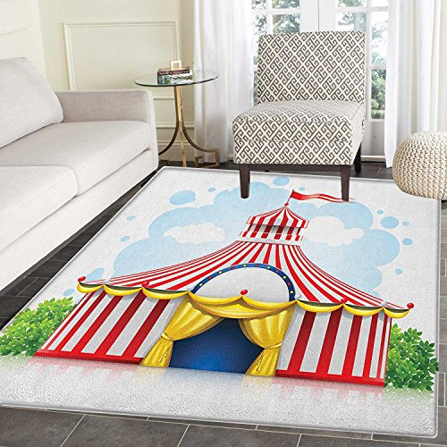 Circus Area Silky Smooth Rugs Striped Strolling Circus Marqu