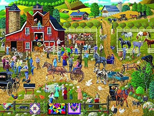 SunsOut Country Farm 500 Piece Jigsaw Puzzle