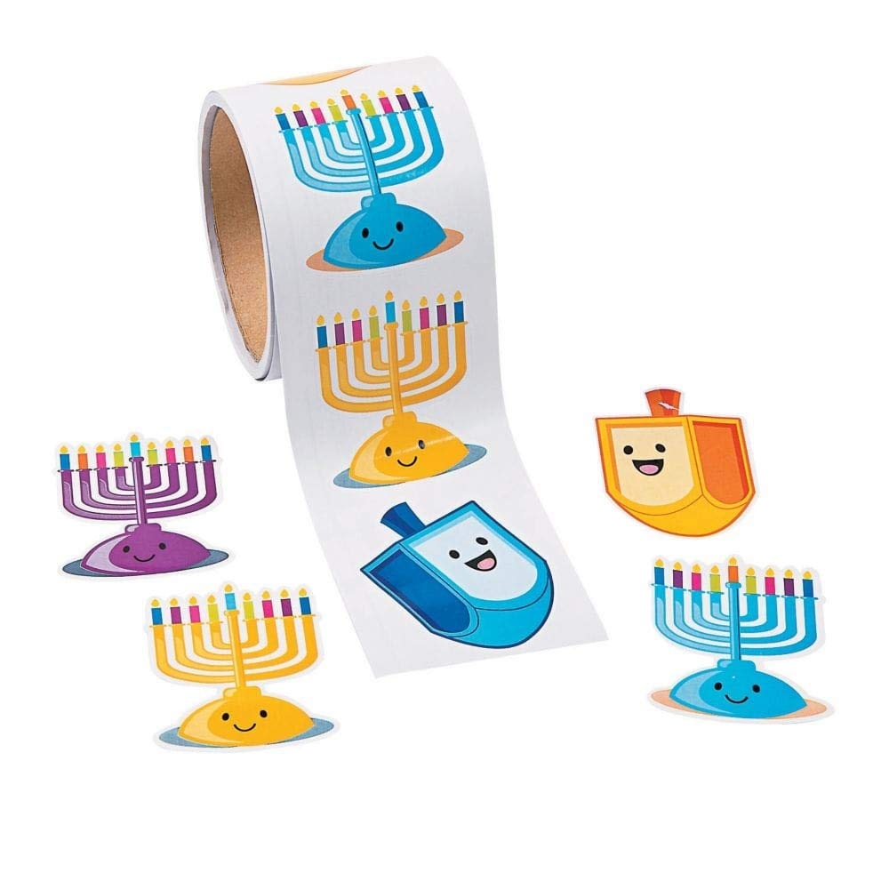 Fun Express Hanukkah Candle Stickers - 100 Stickers per Roll Oriental Trading Co