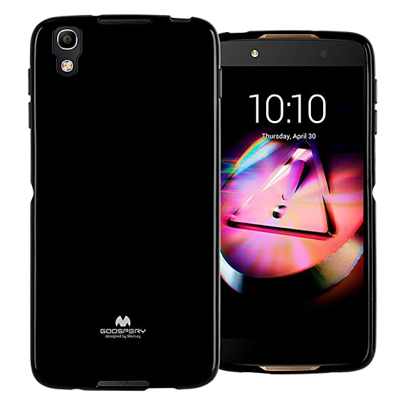 GOOSPERY Marlang Marlang Alcatel Idol 4 Case - Black, Free Screen Protector  [Slim Fit] TPU Case [Flexible] Pearl Jelly [Protection] Bumper Cover for