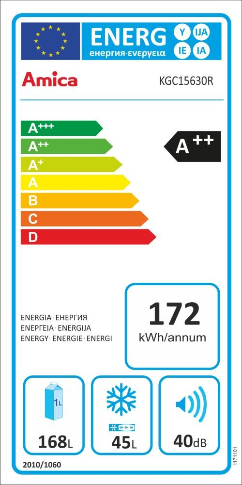 Amica Retro K/ühl-//Gefrierkombination Rot KGC 15630 R A+ 213 Liter mit **** Gefrierfach Chili Rot