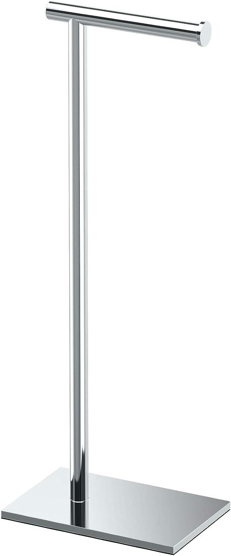 """Modern Square Base Tissue Holder Stand, 21.25"""", in Chrome - -"""